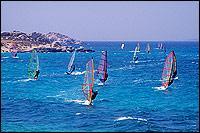 wind surfing santorini